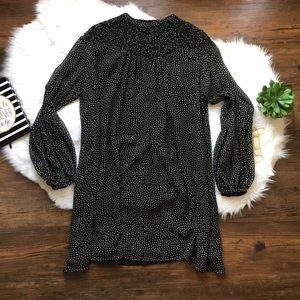 ZARA BASIC Micro dot dress black/white size Large